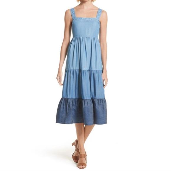 Kate Spade Broome Street Chambray Midi Dress